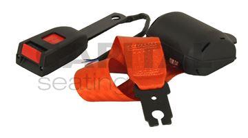 Picture of Retractable Lap Belt w/ Switch - Orange Webbing