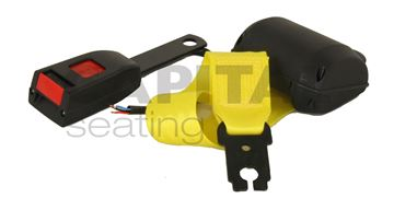 Picture of Retractable Lap Belt w/ Switch - Yellow Webbing