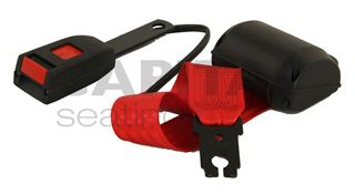 Picture of Retractable Lap Belt w/ Switch - Red Webbing